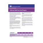 USDA Food and Nutrition Service Child and Adult Care Food Program Fact Sheet