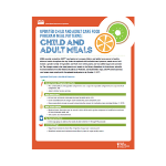 Updated Child and Adult Meal Patterns